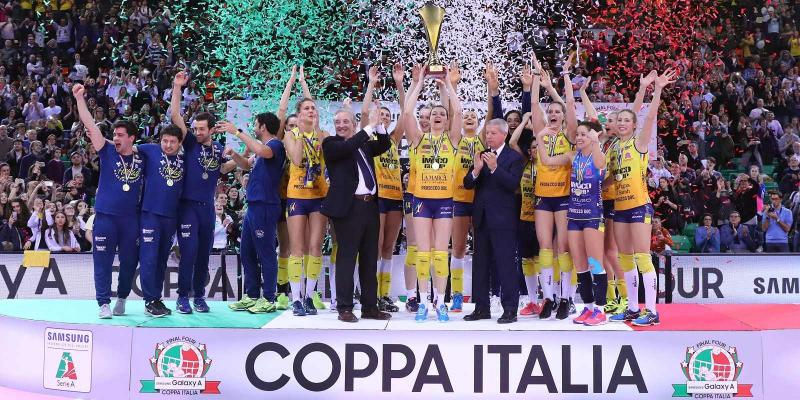 SOLD OUT WEEK END FOR THE FINAL FOUR SAMSUNG GALAXY A COPPA ITALIA AT NELSON...