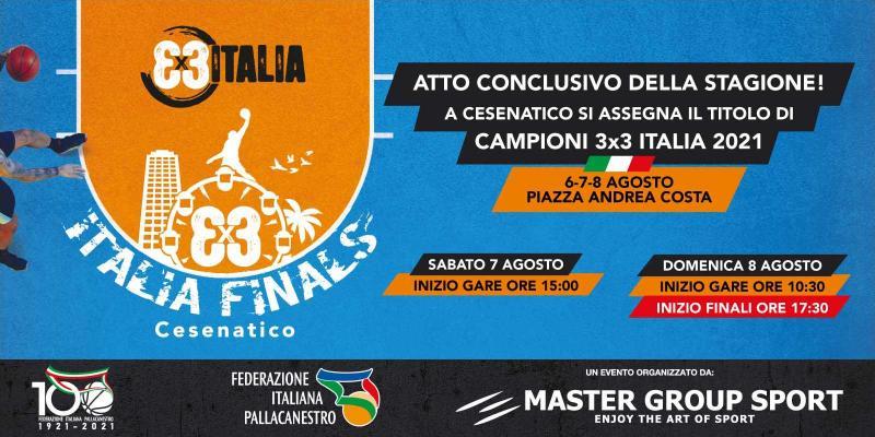 3x3 ITALIA FINALS: A CESENATICO SI ASSEGNA IL PRIMO TITOLO DI CAMPIONI 3x3 ITALIA