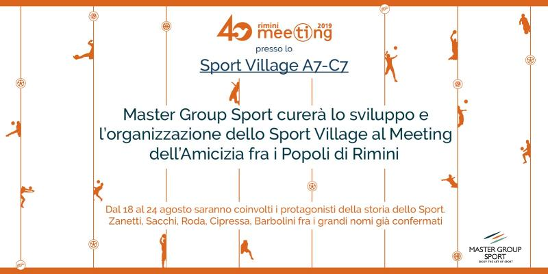 MASTER GROUP SPORT PER L'ORGANIZZAZIONE DELLO SPORT VILLAGE AL RIMINI MEETING